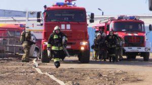 В Тамбове провели крупные пожарно-тактические учения на объекте с круглосуточным пребыванием людей – завод «Комсомолец»