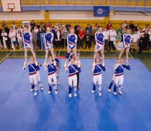 Яркие позитивные эмоции всем собравшимся подарило выступление сборной по черлидингу технического вуза «Хаски»