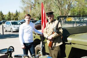 Выставка военной техники времен Великой Отечественной войны была представлена на территории  Тамбовского государственного технического университета