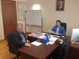 Перспективы развития промышленности области обсуждались на встрече вице-губернатора и первого заместителя Председателя Тамбовского Регионального отделения Союза машиностроителей России