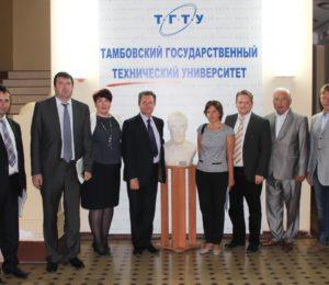 ТГТУ посетила делегация Саратовского государственного технического университета им. Ю.А. Гагарина. Итогом встречи гостей с руководством ТГТУ и обсуждения взаимодействия вузов в рамках круглого стола стало подписание соглашения о сотрудничестве между двумя техническими университетами.