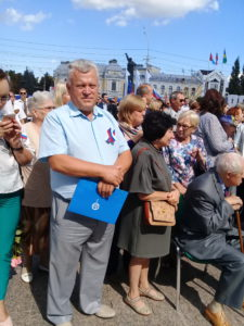 Руководитель Тамбовского регионального отделения Союза машиностроителей России Александр Пахомов принял в празднике в честь Государственного флага