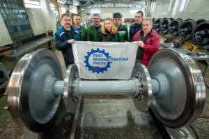 На Тамбовском вагоноремонтном заводе прошла экскурсия для сотрудников регионального отделения ООО «СоюзМаш России»