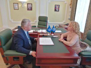 В Тамбовском отделении СоюзМаш состоялась встреча первого заместителя председателя и  начальника управления по развитию промышленности и торговли области