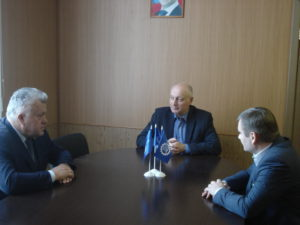 Состоялась деловая встреча исполняющего обязанности Председателя Александра Пахомова и генерального директора АО «МЛРЗ «Милорем» Алексея Коршикова