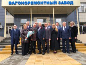 На заводе ТВРЗ состоялось открытие Аллеи Трудовой и Боевой Славы